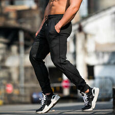 Classic Men's Sport Casual Trousers Gym Running Sweatpants Relaxed Fit Thin