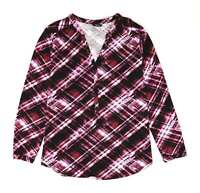 M&Co Purple Check Womens Top Size 16 (Regular)