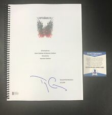 WOW TERRY CREWS SIGNED AUTOGRAPHED THE EXPENDABLES FULL MOVIE SCRIPT BECKETT BAS