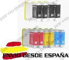 10 CARTUCHOS COMPATIBLES NonOem BROTHER LC970 LC1000 DCP-350C DCP350C