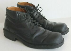 Men's ECCO Black Leather Chukka Ankle Boots size EU 47