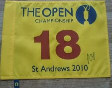 Louis Oosthuizen signed british open 2010 pin flag / COA / exact proof