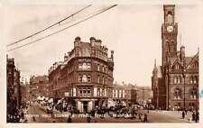 Bradford England Town Hall Square Real Photo Antique Postcard J60355
