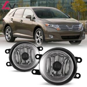 For Toyota Venza 09-15 Clear Lens Pair Bumper Fog Light Lamp OE Replacement DOT