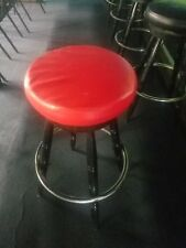 Bar Stool Slip On Cover  made of high quality vinyl in RED