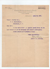 Wesley C. Dudley: three 1898 letters by U.S. Attorney & Ny Supreme Court Justice