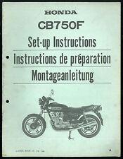 Manuel de Montage et Préparation HONDA CB 750 F 1980 - RC 04 Set-Up Instructions