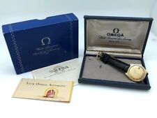 Omega 18K Solid Gold Case & Dial Constellation PiePan Date 168.005 Box Papers