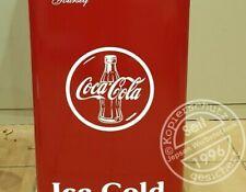 Aufkleber Coca Cola Bottle Tablettdesign 30cm für Tür Kühlschrank weiß glanz