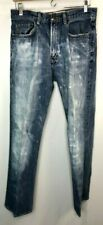 GAP Mens Blue Jeans Distressed Frayed Faded Boot Fit Size 32 x 32