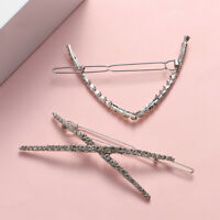 1Pc Girl's Shiny Rhinestone Hair Clip Geometric Hairgrip Diamond Hairpins