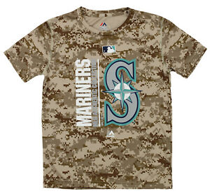 Majestic MLB Youth Seattle Mariners Short Sleeve AC Team Icon Tee