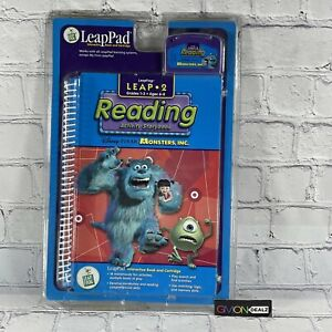 LeapFrog Leap Pad Book & Cartridge Reading Grades 1-3 Monsters, Inc. NEW Sealed