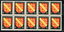 STAMP / TIMBRE FRANCE NEUF N° 756 **  BLOC DE 10 /  ARMOIRIE ALSACE