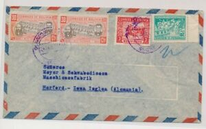 LO35494 Bolivia to Herford air mail good cover used