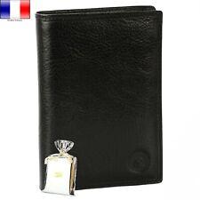 Portefeuille Homme 100 % Cuir Noir style Armani Cartier Burberry Femme Id Cadeau