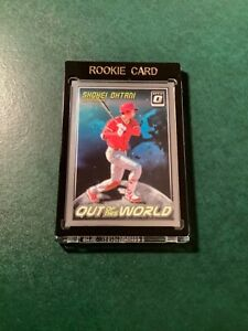 """2018 DONRUSS OPTIC 0W-5 SHOHEI OHTANI """"OUT OF THIS WORLD"""" ROOKIE CARD MINT 🪐✨🌏"""