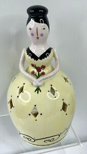 """Westland Giftware Southern Belle Figure Tea Light Candle Holder Yellow 8"""""""