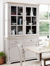 Florence Display Cabinet Large Truffle Kitchen Dining Dresser With Glass Doors