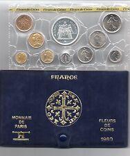 FRANCE coffret FDC fleur de coin 1980 série des monnaie francaises 1980 50F 1980