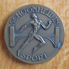 """Bronze Olympic Commemorative Medal Amsterdam 1928 """"Schoonheid in Sport"""" J Kaas"""