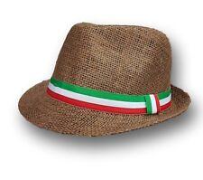 Cappello Moda Mare Tessuto Misto Estate Fashion Sole Mod. Marrone Italia moc