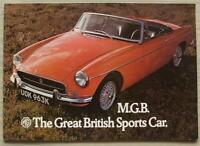 MG MGB SPORTS CONVERTIBLE Car Sales Brochure 1972 #2865