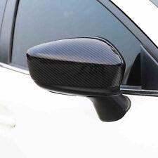 carbon fibe color Rearview Mirror Cover Trim For MAZDA 3 AXELA m3 2014-2016