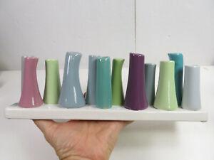 Chive Pooley  Glazed Ceramic Bud Vase 12 Flower Decorative Floral Pastel Color