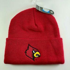 adidas Louisville Cardinals Team Issue Knit Beanie Hat - Red OSFA KZC02