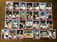 1981 DETROIT TIGERS Topps COMPLETE Baseball Team SET 28 Cards MORRIS GIBSON RC