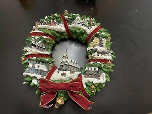 Thomas Kinkade Christmas Village Wreath by Hamilton Collection