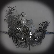 BK Swan Masquerade Ball Mask MardiGras Halloween Fancy Bendable Metal Mask