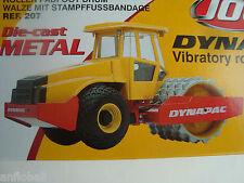 MINIATURE DYNAPAC VIBRATORY ROLER CA 512 ROULEAU COMPACTEUR JOAL 1/35 NEUF