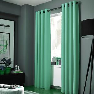 2PC HEAVY THICK SOLID GROMMET PANEL WINDOW CURTAIN DRAPES BLACKOUT FLOCKING K34