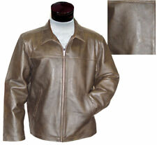 NEW MENS Brown Soft Touch LEATHER DRESS JACKET NICE Size XL