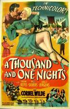 A THOUSAND and ONE NIGHTS Orig. 1945 MOVIE POSTER One Sheet WILDE Sexy Fantasy
