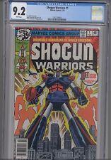 Shogun Warriors #1 CGC 9.2 1980 Marvel ( Before Transformers) Comic: New Frame