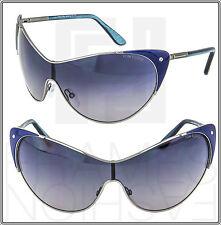 TOM FORD Cat Eye VANDA Blue Gunmetal Sunglasses Gray Gradient TF364 Women