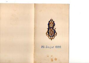 MOSCOU MENUS  1892