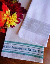 2 Fine Vintage Linen Hotel Towels Brugge Passe Partout and Ciga - LOGOS