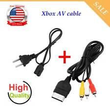 AV Cable & AC Power Cord XBOX Original (A/V Audio Video, Adapter Supply) US