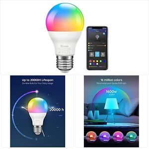 Govee LED Light Bulb Dimmable, Music Sync RGB Color Changing Light Bulb A19 7W
