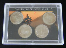 NICELY SLABBED WESTWARD SERIES NICKELS (2004 & 2005) DENVER MINT ~ UNCIRCULATED
