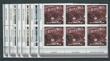 NEW ZEALAND 2000 ON THE ROAD, MOTOR CARS SET OF 6 PLATE BLOCKS UNMOUNTED MINT