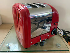**DUALIT 2 SLICE TOASTER, 20246, RED & STAINLESS STEEL**