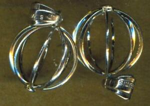BALL CAGE (#10) STERLING SILVER PENDANT BAIL PS