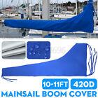 3.5m Sail Cover - Mainsail Boom Cover 420D 10-11ft Waterproof Fabric Blu