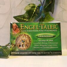 Engeltaler Gesundheit Glücksbringer mit Swarovski Kristall 24 Karat vergoldet