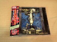 SEPULTURA CHAOS A.D.+1 APCY-8136 JAPAN CD w/OBI 35668